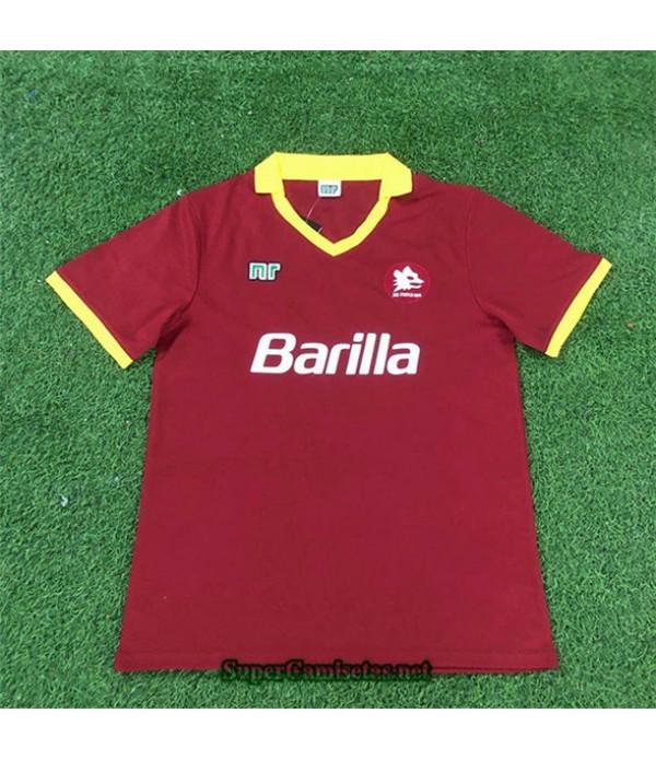 Tailandia Primera Equipacion Camiseta Clasicas As Roma Hombre 1989 90
