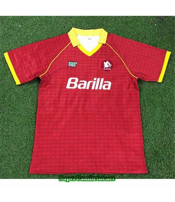 Tailandia Primera Equipacion Camiseta Clasicas As Roma Hombre 1990 91