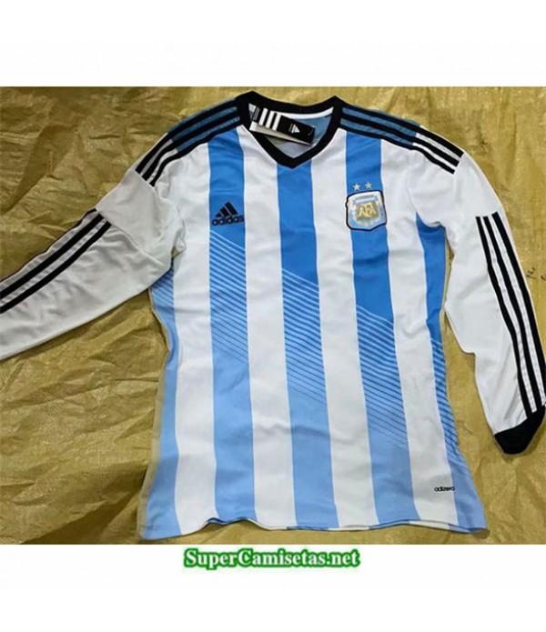 Tailandia Primera Equipacion Camiseta Clasicas Argentina Hombre Manga Larga 2014