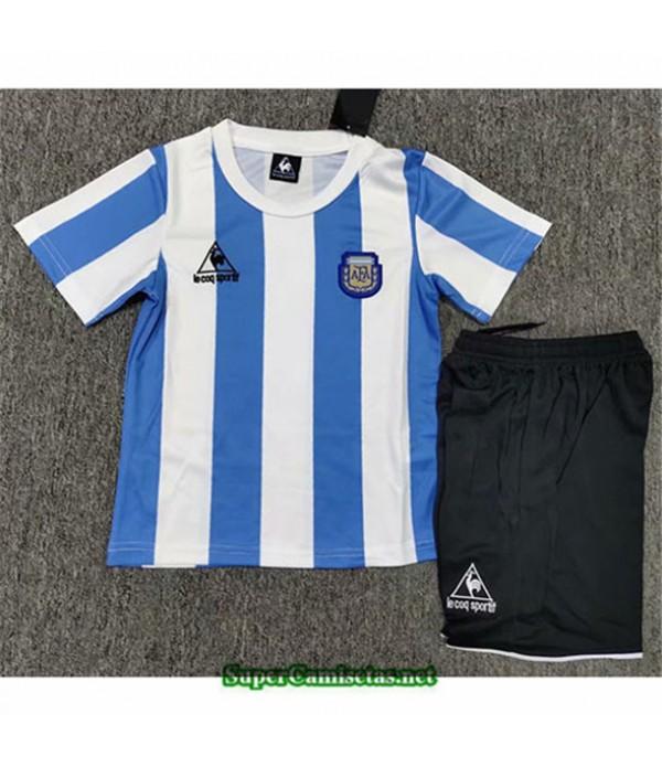 Tailandia Primera Equipacion Camiseta Clasicas Argentina Niño Hombre 1986