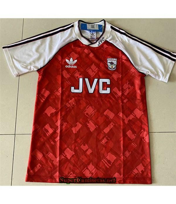Tailandia Primera Equipacion Camiseta Clasicas Arsenal Hombre 1990 92