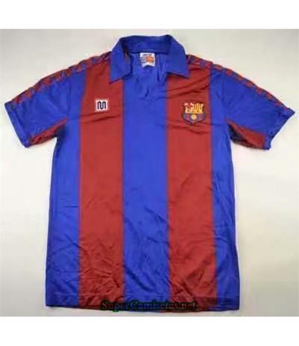 Tailandia Primera Equipacion Camiseta Clasicas Barcelona Hombre 1982 84