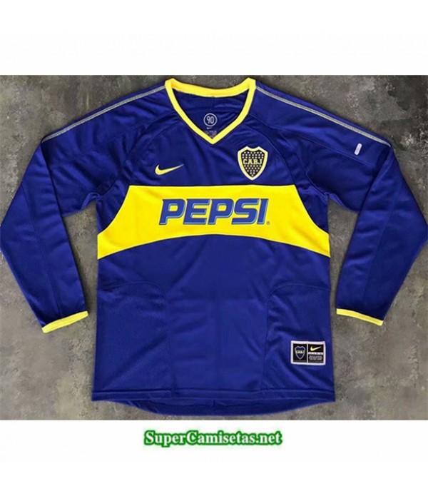 Tailandia Primera Equipacion Camiseta Clasicas Boca Juniors Hombre Manga Larga 2003 04