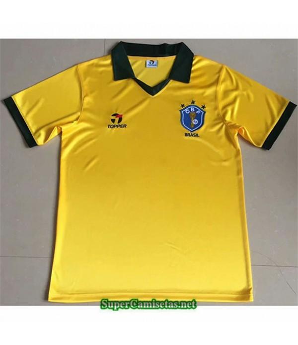 Tailandia Primera Equipacion Camiseta Clasicas Brasil Hombre 1985
