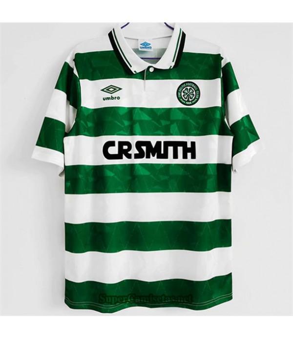 Tailandia Primera Equipacion Camiseta Clasicas Celtic Hombre 1989 1991