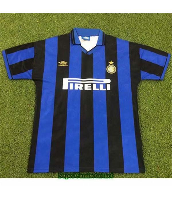 Tailandia Primera Equipacion Camiseta Clasicas Inter Milan Hombre 1995 96