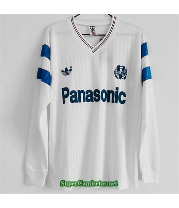 Tailandia Primera Equipacion Camiseta Clasicas Marsella Hombre Manga Larga 1990
