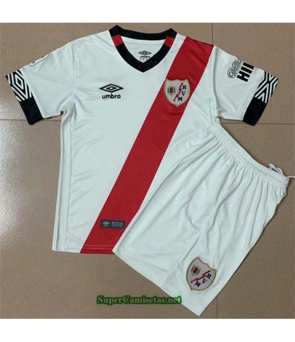 Tailandia Primera Equipacion Camiseta Rayo Vallecano Niño 2020/21