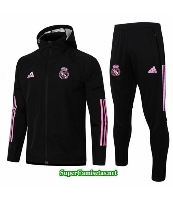 Tailandia Rompevientos Real Madrid Negro 2020/21