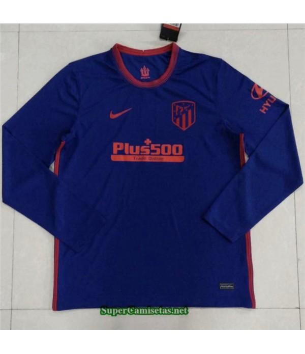 Tailandia Segunda Equipacion Camiseta Atletico Madrid Manga Larga 2020/21