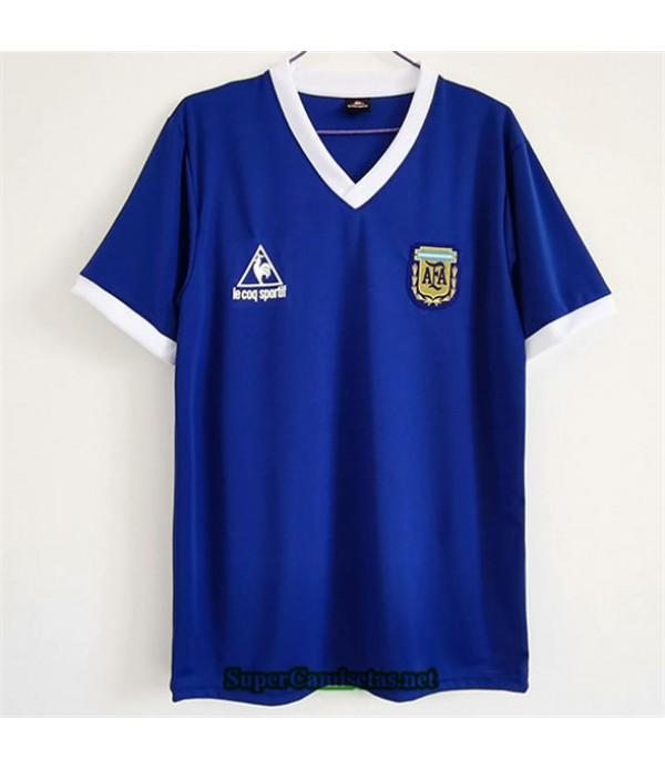 Tailandia Segunda Equipacion Camiseta Clasicas Argentina Hombre 1986