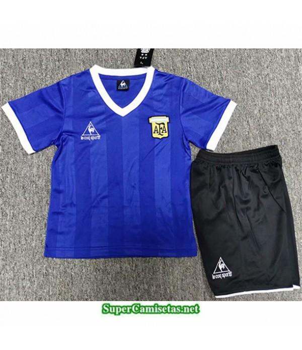 Tailandia Segunda Equipacion Camiseta Clasicas Argentina Niño Hombre 1986