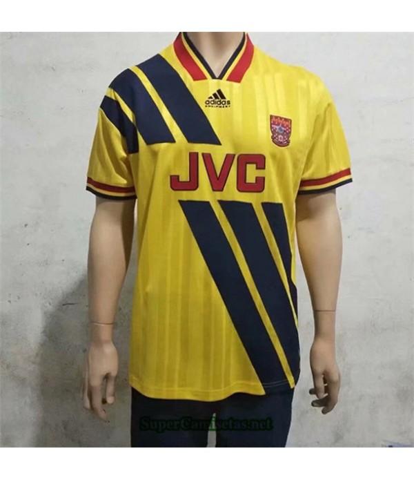 Tailandia Segunda Equipacion Camiseta Clasicas Arsenal Hombre 1993 94