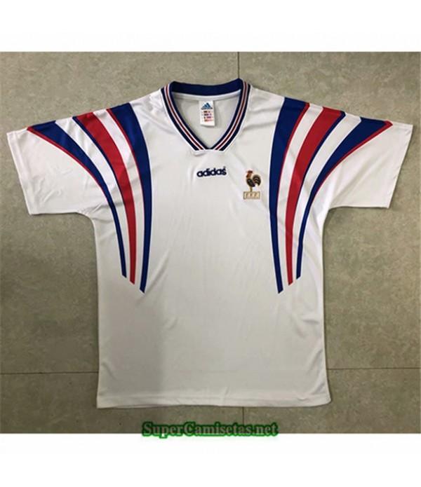 Tailandia Segunda Equipacion Camiseta Clasicas Francia Blanco Hombre 1996