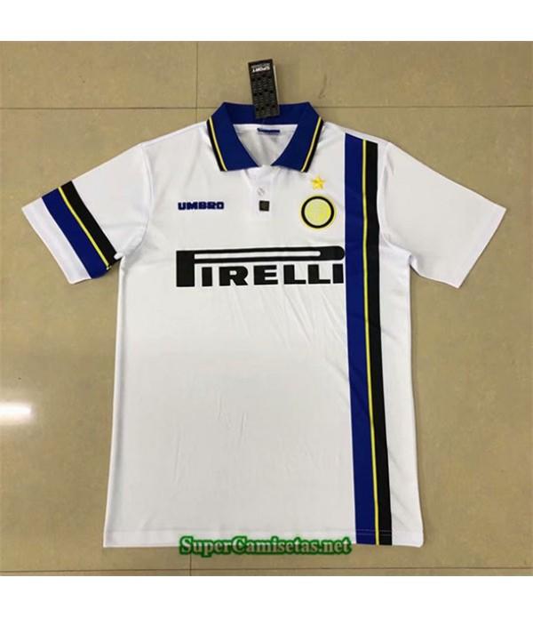 Tailandia Segunda Equipacion Camiseta Clasicas Inter Milan Hombre 1997 98