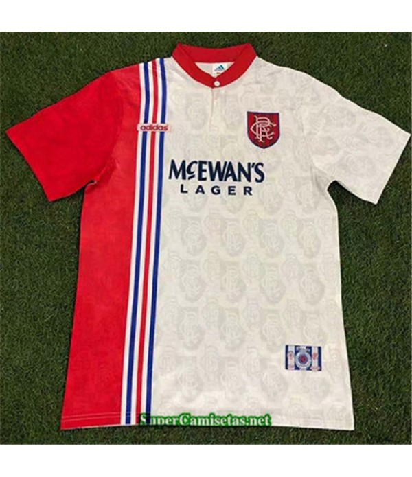 Tailandia Segunda Equipacion Camiseta Clasicas Rangers Hombre 1996 97