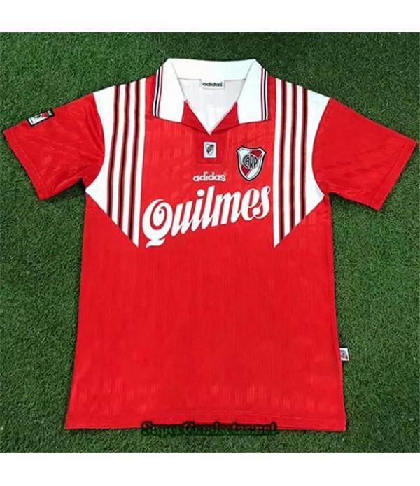 Tailandia Segunda Equipacion Camiseta Clasicas River Plate Hombre Rojo 1995 96