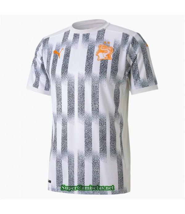 Tailandia Segunda Equipacion Camiseta Costa De Marfil Blanco 2020/21