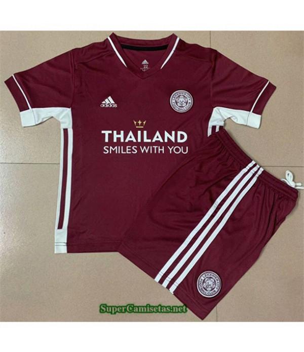Tailandia Segunda Equipacion Camiseta Leicester City Niños 2020/21