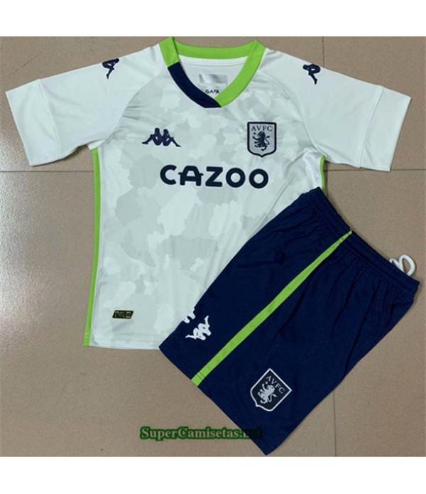 Tailandia Tercera Equipacion Camiseta Aston Villa Niño 2020/21
