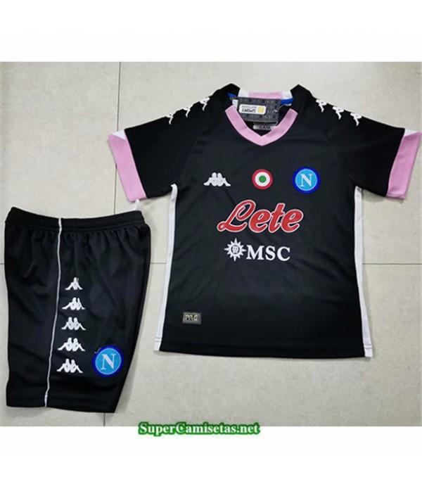 Tailandia Tercera Equipacion Camiseta Napoli Niños Negro 2020/21