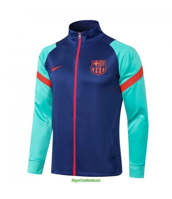 Tailandia Camiseta Barcelona Chaqueta Azul/verde 2021