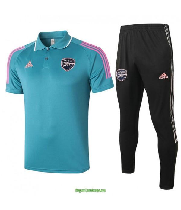 Tailandia Camiseta Kit De Entrenamiento Arsenal Polo Verde 2021
