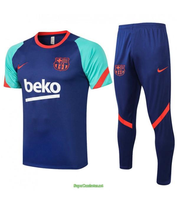 Tailandia Camiseta Kit De Entrenamiento Barcelona Azul/verde 2021
