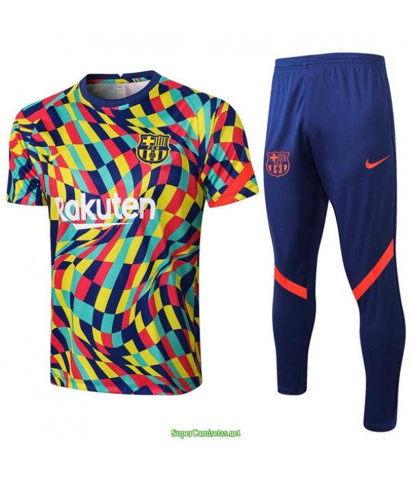 Tailandia Camiseta Kit De Entrenamiento Barcelona Couleur 2021