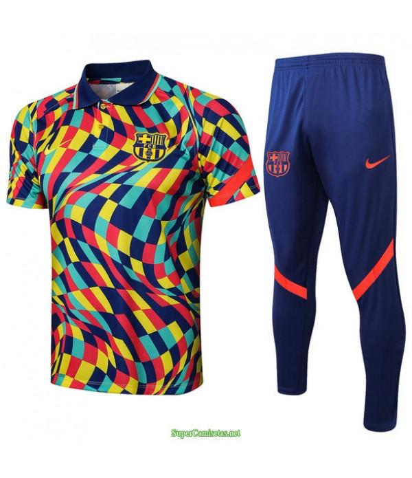 Tailandia Camiseta Kit De Entrenamiento Barcelona Polo Couleur 2021