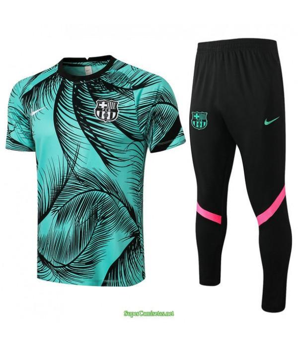Tailandia Camiseta Kit De Entrenamiento Barcelona Verde 2021