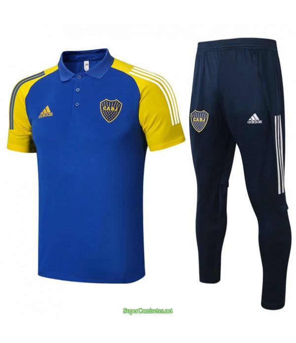 Tailandia Camiseta Kit De Entrenamiento Boca Juniors Polo Azul 2021