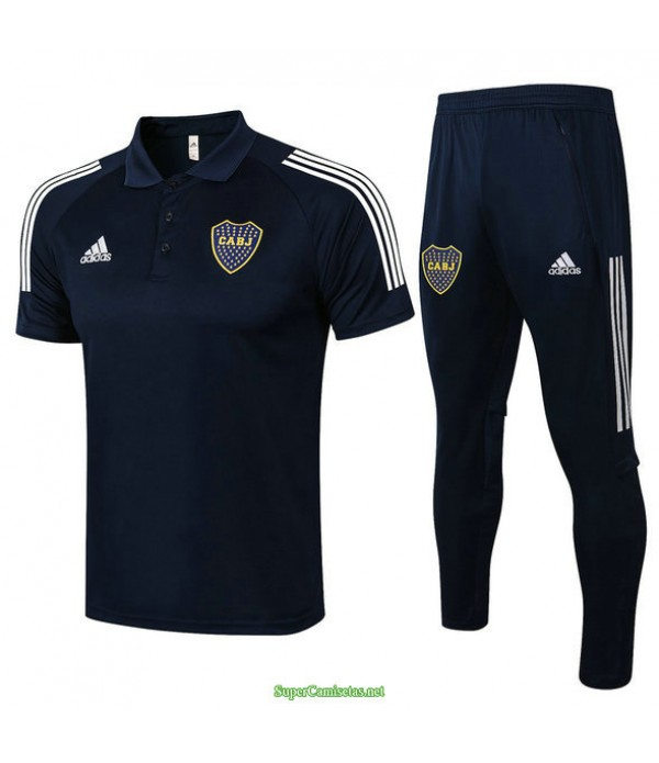 Tailandia Camiseta Kit De Entrenamiento Boca Juniors Polo Azul Marino 2021