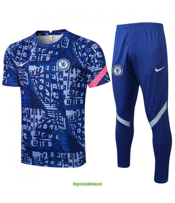 Tailandia Camiseta Kit De Entrenamiento Chelsea Azul 2021