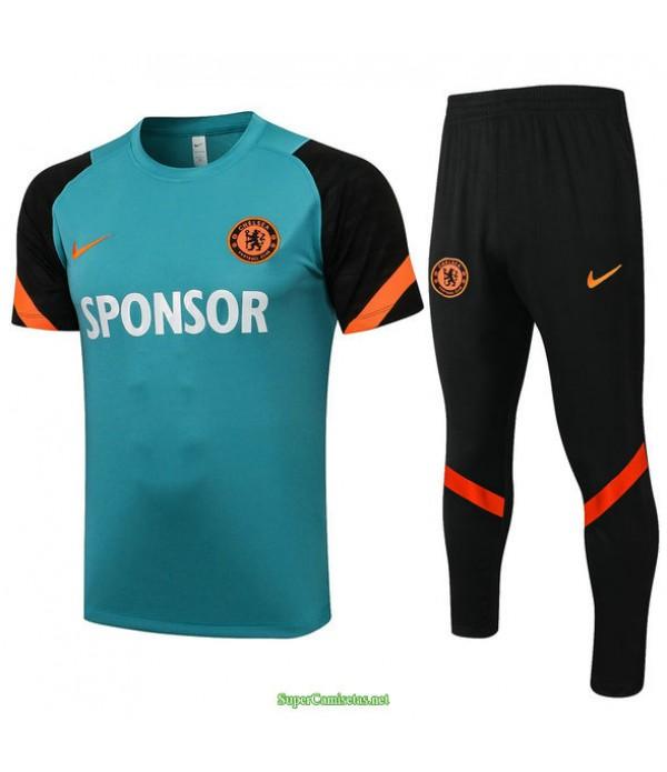 Tailandia Camiseta Kit De Entrenamiento Chelsea Pasto Verde 2021