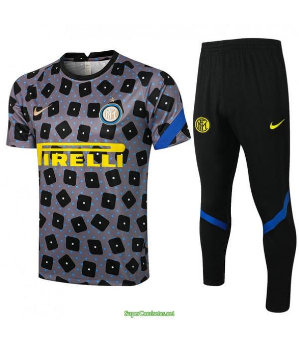 Tailandia Camiseta Kit De Entrenamiento Inter Milan Gris 2021