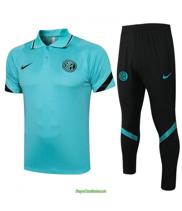 Tailandia Camiseta Kit De Entrenamiento Inter Milan Polo Azul Claro 2021