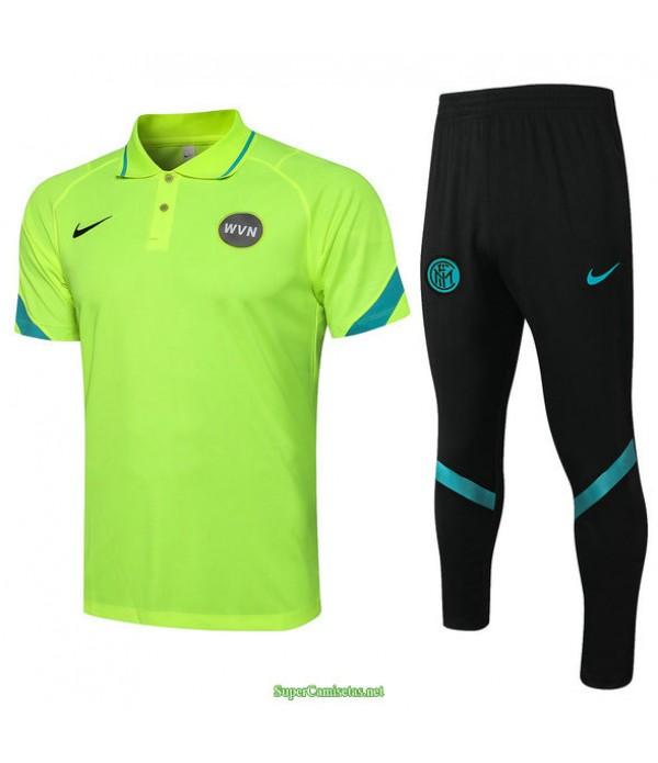 Tailandia Camiseta Kit De Entrenamiento Inter Milan Polo Verde Claro 2021