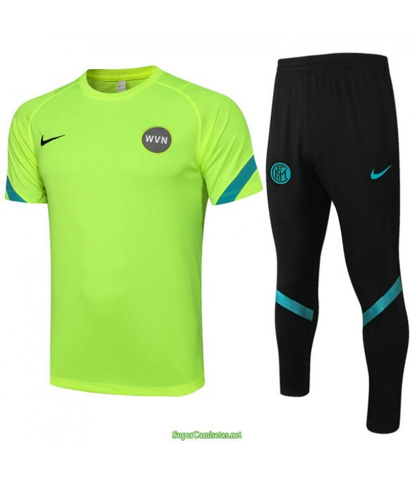 Tailandia Camiseta Kit De Entrenamiento Inter Milan Verde Claro 2021