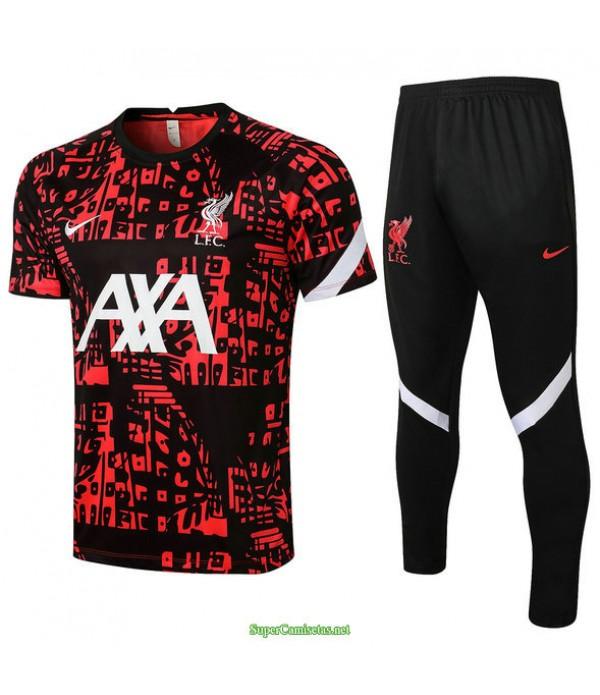 Tailandia Camiseta Kit De Entrenamiento Liverpool Negro/rojo 2021