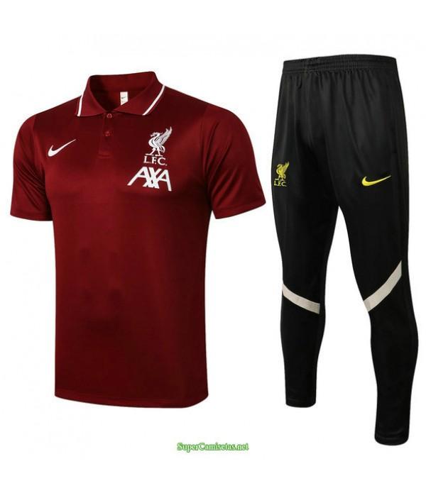 Tailandia Camiseta Kit De Entrenamiento Liverpool Polo Bordeaux 2021