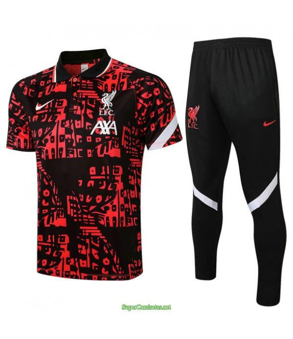 Tailandia Camiseta Kit De Entrenamiento Liverpool Polo Rojo 2021