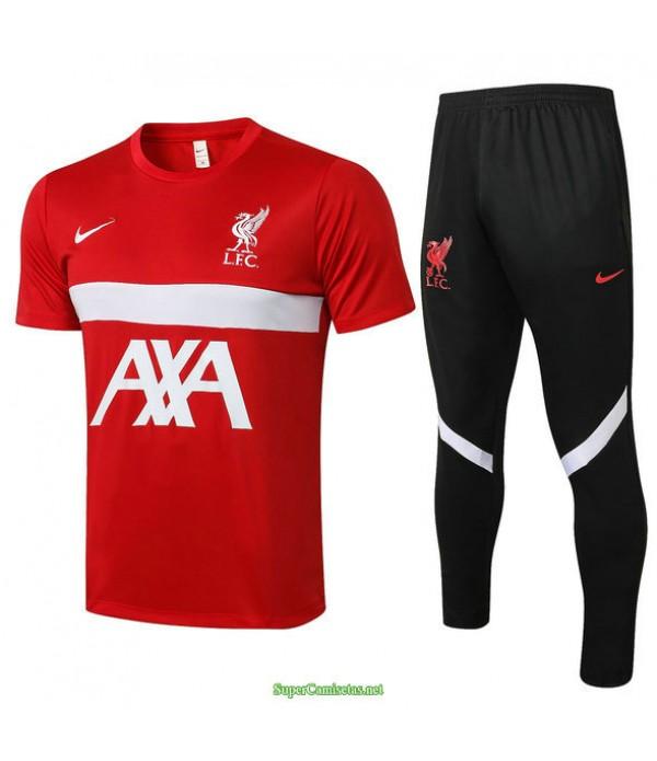 Tailandia Camiseta Kit De Entrenamiento Liverpool Rojo 2021