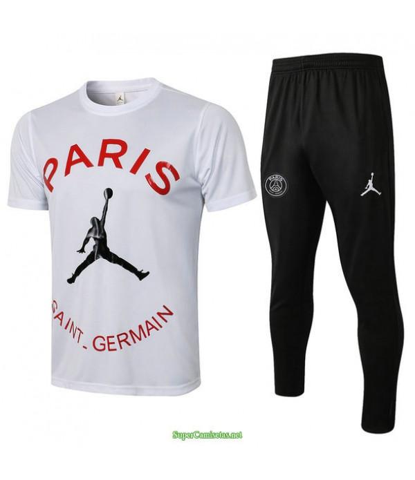 Tailandia Camiseta Kit De Entrenamiento Psg Jordan Blanco 2021