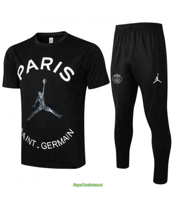Tailandia Camiseta Kit De Entrenamiento Psg Jordan Negro 2021