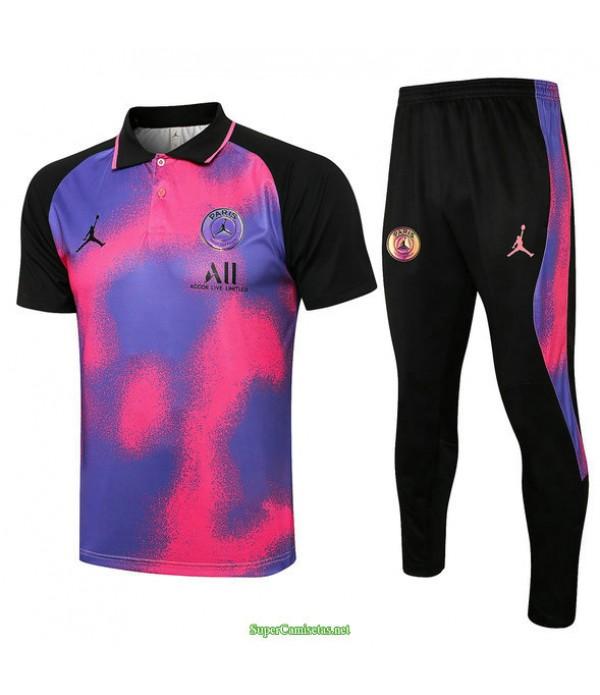 Tailandia Camiseta Kit De Entrenamiento Psg Jordan Polo Rosa 2021
