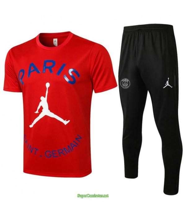 Tailandia Camiseta Kit De Entrenamiento Psg Jordan Rojo 2021