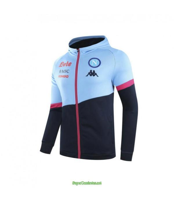 Tailandia Camiseta Nápoles Chaqueta Sombrero Azul Real 2021