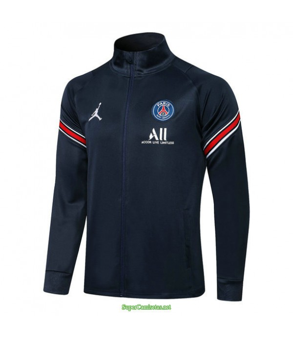 Tailandia Camiseta Psg Jordan Chaqueta Azul Oscuro 2021