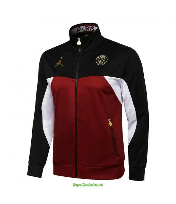 Tailandia Camiseta Psg Jordan Chaqueta Negro/granate 2021